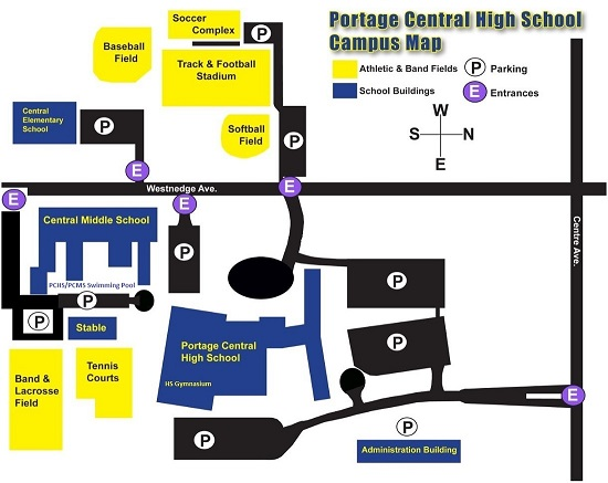 Portage Central Campus Map