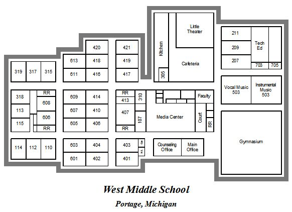 Interior Map of West Middle
