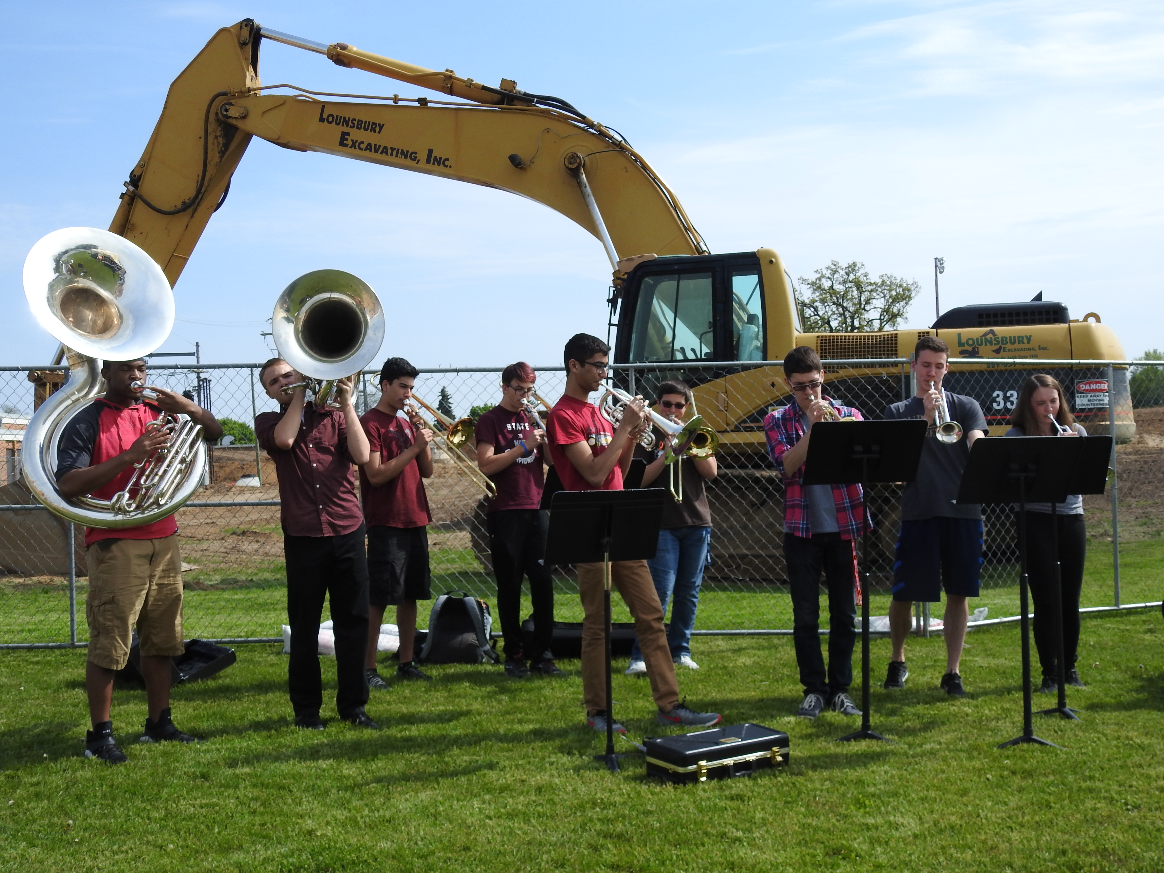 Pep Band at Groundbreaking Ceremony for North Middle